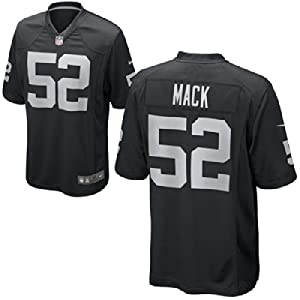Khalil Mack Oakland Raiders Black On-Field Jersey Size 44 Large by ON-FIELD
