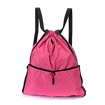Yinjue Foldable Basic Drawstring Tote Cinch Sack Promotional Backpack for Women Men And Kids Shopping Gym Sports