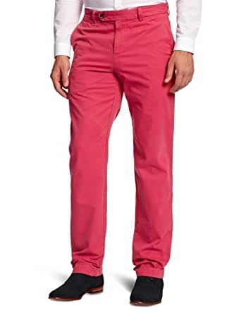 Brooks Brothers Milano Garment Dyed Twill Chino Straight Men's Trousers Red W30 INxL34 IN