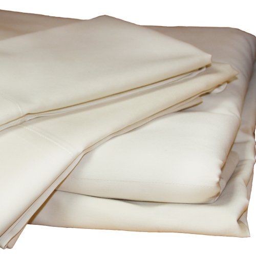 Lifekind 300-Thread-Count Pure Certified Organic Cotton Sateen (Twin Extra-Long) Sheet Set - Ivory front-764914