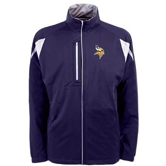 NFL Men's Minnesota Vikings Desert Dry Full Zip Jacket (Dark Purple/White, Small)