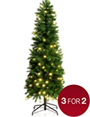 6ft Pre-Lit Slim Highland Tree