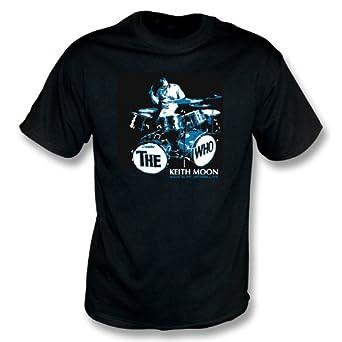 TshirtGrill Keith Moon(The Who) T-shirt Medium, Color Black