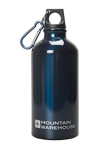 mountain-warehouse-botella-de-acabado-metalico-de-05-l-con-mosqueton-cobalto-talla-unica