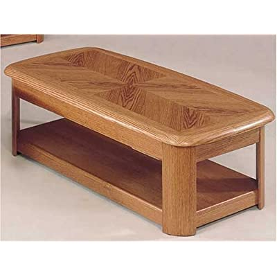 Oak Veneer Finish Coffee Table With Lift Up Top By Coaster Furniture by Coaster