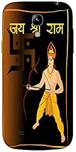 Timpax Protective Hard Back Case Cover With access to all controls and ports Printed Design : swastika with lord rama.For Samsung I9190 Galaxy S4 mini
