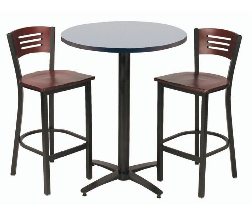 Pub Table and Stool Set Natural Stoolsk/Graphite Nebula Table