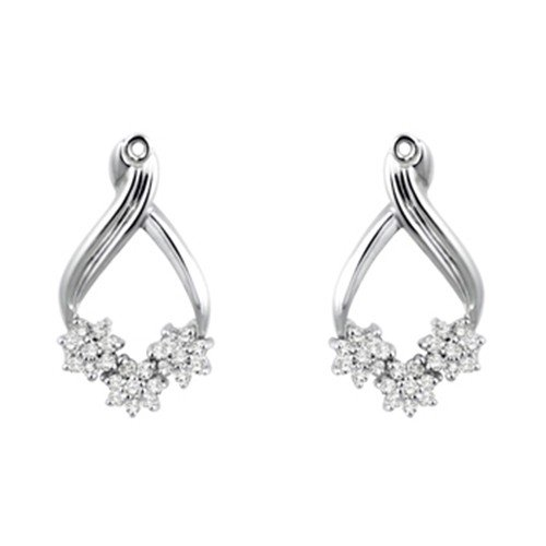 051-crt-Cubic-Zirconia-Mounted-In-Sterling-Silver-Earring-Jackets