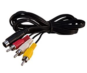 Mega Drive 2 MD TV AV Cable Lead Red/White/Yellow