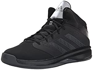 adidas Performance Men's Isolation 2 Basketball Shoe, Black/Dark Grey/Dark Grey, 11 M US