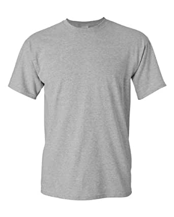 Amazon.com: Gildan 5.3oz Heavy Cotton Short Sleeve T-Shirt-Sport Grey