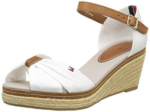 tommy hilfiger elba 19d damen sandalen wei white 40. Black Bedroom Furniture Sets. Home Design Ideas