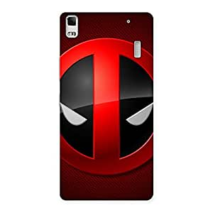 Delighted Dead Eye Round Red Back Case Cover for Lenovo K3 Note