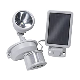 Maxsa Solar-Powered Motion-Activated Security Light, Super Bright LED