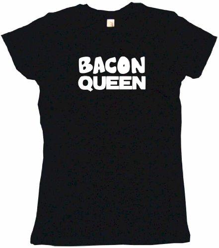 Bacon Queen Women'S Tee Shirt Medium-Black Babydoll