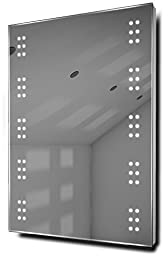 Cluster Ultra-Slim LED Bathroom Illuminated Mirror With Demister & Sensor k11