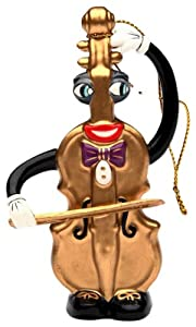 Appletree Design Violin Ornament, 4-Inch Tall, Includes String for Hanging