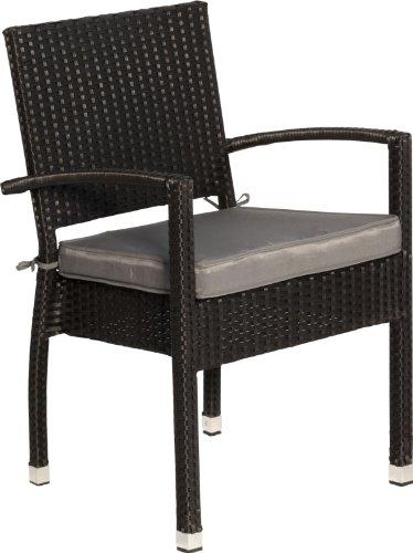 IB-Style - Mobili da gardino MALAGA | 8 variazioni | 8x sedia + cuscino in Blackcord | grouppo - set - lounge - resistente alle intemperie