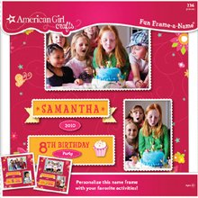 American Girl Fun Frame-A-Name