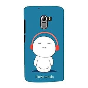 ColourCrust Lenovo K4 Note Mobile Phone Back Cover With I Love Music - Durable Matte Finish Hard Plastic Slim Case