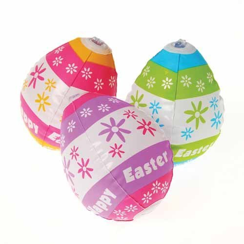 Inflatable Easter Eggs - Pack of 12