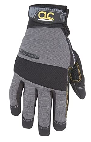 Custom Leathercraft 125S Handyman Flex Grip Work Gloves, Small
