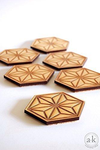 Set of 6 - Leaf Coasters