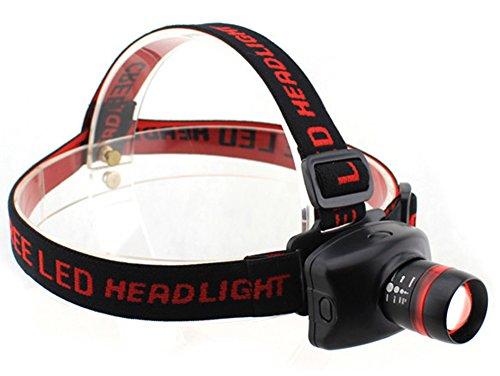 Chariot Trading - Richuang 3-Mode Zoomable Zoom 3W Cree Led Headlamp Flashlight 240 Lumens Head Light Lamp Black - Cj-Bg-000602