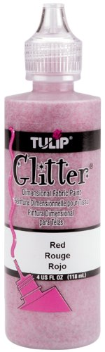 I Love To Create Tulip Glitter Dimensional Fabric Paint, 4-Ounce, Silver