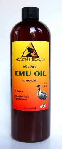 Emu Oil Australian Triple Refined Organic 100% Pure 64 Oz back-969679