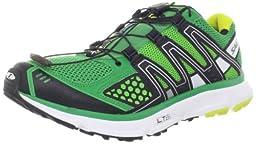 Salomon Men\'s XR Mission Running Shoe,Clover Green/Black/Light Green,7 M US