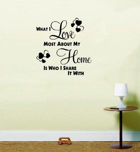 """Adesivo da parete """"what I Love Most about my Home"""" (""""cosa più sulla mia casa Amore"""") Crema"""