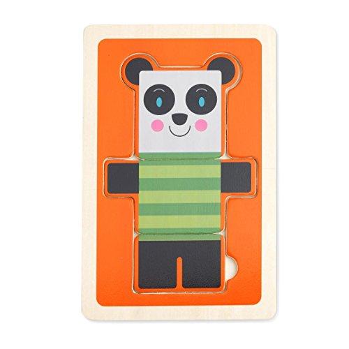 DEMDACO 3 Piece Puzzle, Stan Panda Bear