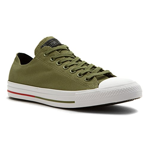 Chuck Taylor All Star Shield Canvas Low Top Sneaker Fatigue Green (8.5 Mens/10.5 Womens)