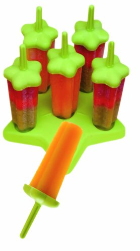 Tovolo 80-8002G Green Star Ice Pop Molds, Set of 6