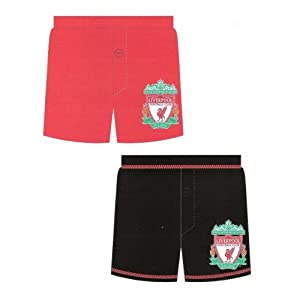 Boys Official Liverpool Fc Design Boxer Short Trunks 11-12