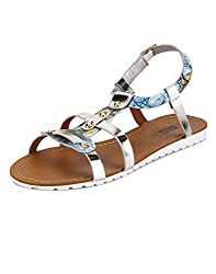 Yepme Blue & Silver Sandals -- YPWFOOT9414_7
