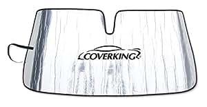 Coverking Custom Sunshade for Select Fiat 500 Models - Reflective Mylar Foam (Silver)