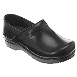 Dansko Professional Leather Slip-On Shoes, 36, Black