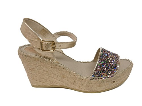 Vidorreta sandalo glitter zeppa corda 37900 oro nr.41