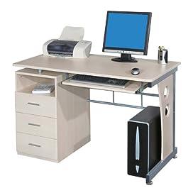 SixBros. Office - Scrivania porta pc tavolo ufficio colore acero S-352/112