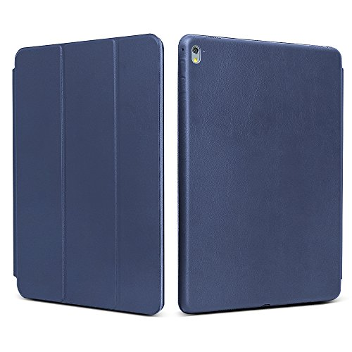 """iPad Pro 9.7 """"Case, JGOO [Full Body Protection] Ultra Slim Folio Abdeckung mit Standplatz und Magnetic Smart Cover Auto-Spur-Schlaf On / Off-Funktion, Klassische Eleganz Stil für iPad Pro 9.7 Zoll (2016 Release),Marine Blau"""