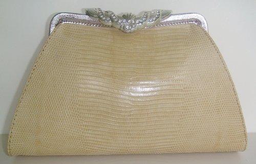 Anita IvSlv - Genuine Lizard Skin Clutch Handbag