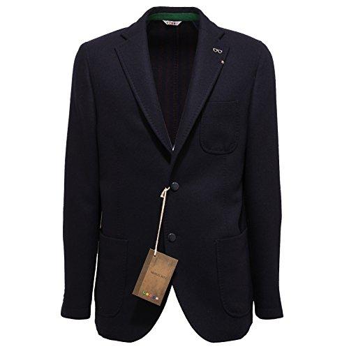 5401Q giacca uomo MANUEL RITZ lana blu jacket men [54]