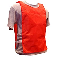 Buy Workoutz Youth Red Nylon Scrimmage Vests (Set of 12) Cheap Training Pinnies Soccer Practice by Workoutz