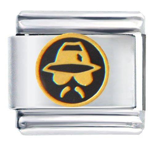 Spy Man In Black Italian Charms Bracelet Link