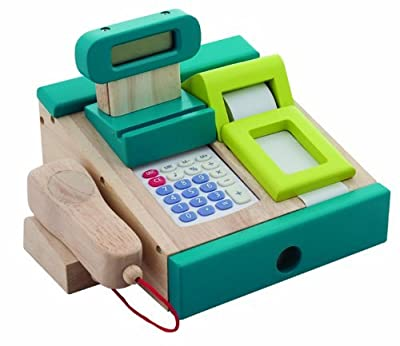 Santoys - Wooden Toys - Food & Shop Role Play - Cash Register and Scanner