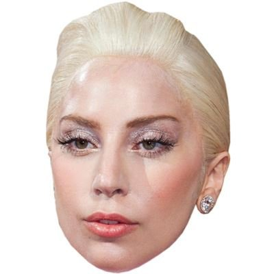 Lady Gaga Celebrity Mask, Cardboard Face and Fancy Dress Mask