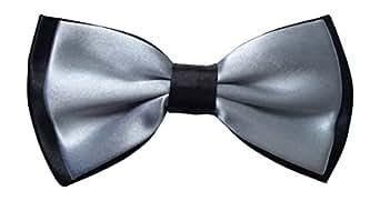 En satin-homme-gris/noir-cadre réglable de pie silver grey & (noir)