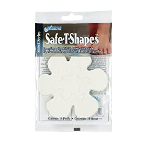 Select Safe-T-Shapes Bathtub Decals, White Daisy